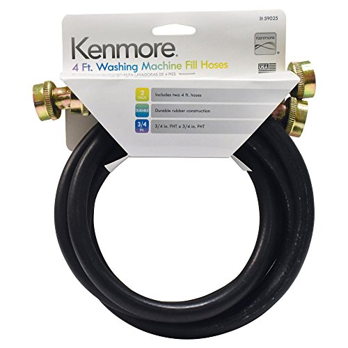 Kenmore Washing Machine Fill Hoses 4-foot, 2-Pack, 26-59025