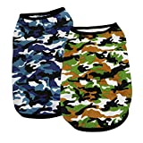 YAODHAOD Pet Vest, Puppy and cat Clothes, Chihuahua Camouflage Cotton Vest T-Shirt Doggy Shirts Apparel for Small Dogs Medium Dog (L)