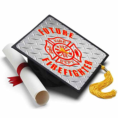 Tassel Toppers Future Firefighter Graduation Cap Decorations for Grad Cap ()