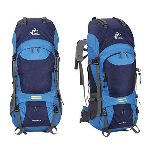 Skisneostype Trekking Sac à Dos de Voyage - Sac à Dos de Sport en Plein Air - Imperméable Unisexe Professionnel Alpinisme Sac 60L