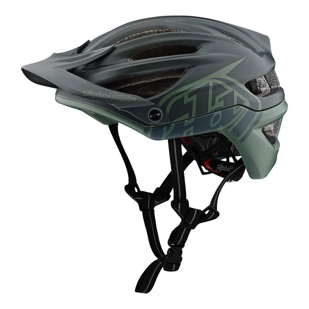Troy Lee Designs Adult A2 MIPS Decoy Mountain Bike Bicycle Helmet (Small, Black/Flight Green)
