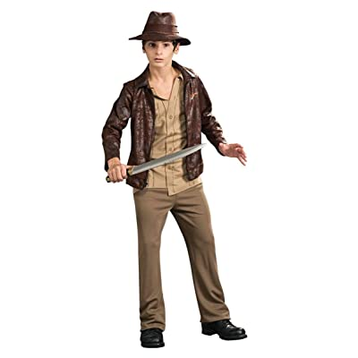 Indiana Jones and The Kingdom of The Crystal Skull Deluxe Indiana Costume, Tween Size: Toys & Games