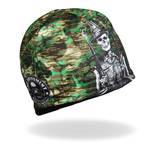 HD Sublimation Beanie American USA Patriotic Camo Second Amendment Skull Beanie Skull - Beanie Choppers Hat