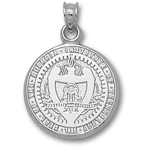 LogoArt Georgie Tech Yellow Jackets Sterling Silver Team Seal (Yellow Jackets Seal Pendant)