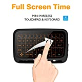 H18 2.4GHz Wirless Mini with Backlit Whole Panel Touchpad and keyboard combo,Tripsky Handheld