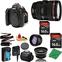 Great Value Bundle for 6D DSLR – 24-105MM L + 2PCS 16GB Memory + Wide Angle + Telephoto Lens + Case