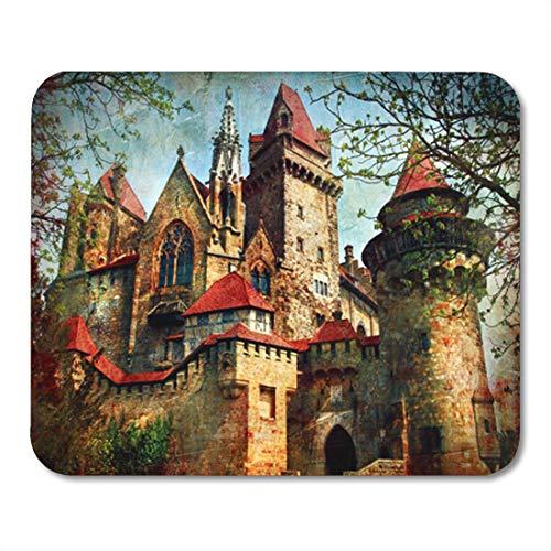 Semtomn Gaming Mouse Pad Vintage Castle from Fairy Tale Medieval Kreuzenstein in Austria Austrian 9.5