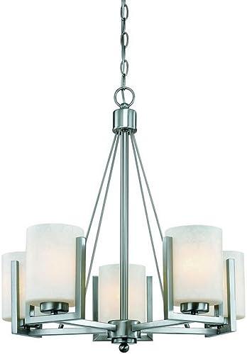Dolan Designs 2240-09 Uptown 5 Light Chandelier, Satin Nickel