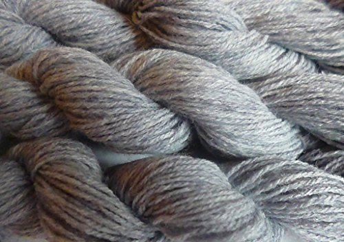 (TWO Skeins Heather Grey Gray Wool Blend DK Sport Weight Yarn)
