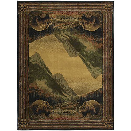 Westfield Home Ridgeland Mountain Bears Runner Rug (1'11 x 7'4) from by Westfield Home
