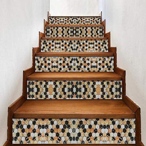 ZOOMY 6 Piezas/Set Simulación 3D Escalera de Piedra Escalera Escalera Pegatina de Piso Escalera autoadhesiva Impermeable PVC Tatuajes de Pared Decoración para el hogar - Piedra de simulación: Amazon.es: Hogar