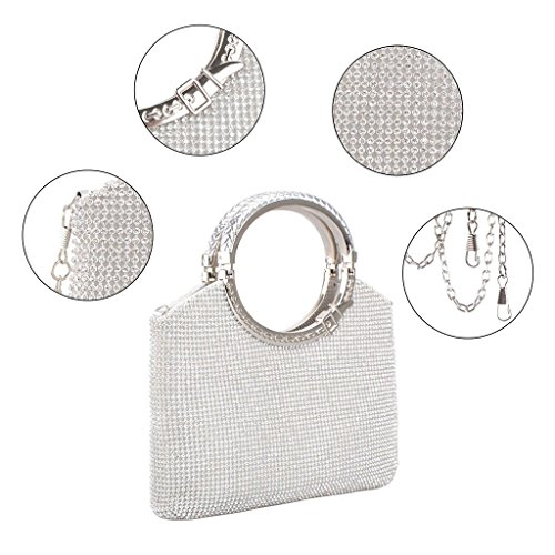 Handbag Clutch Prom Party Elegant Women Bags Wedding Silver Purse Evening Bridal Shoresu Wallet Gold Fcwp4EqCxC
