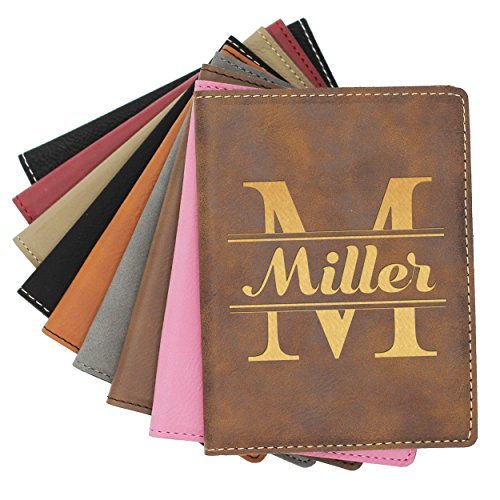 Custom Personalized Passport Holder Case Cover - Monogrammed Travel Gifts - Engraved (Monogrammed Passport Cover)