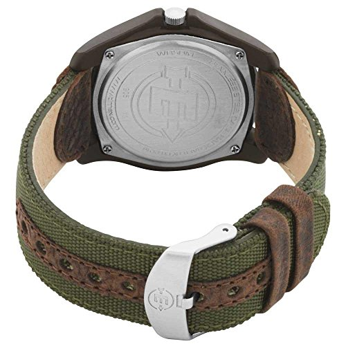 Timex Men's T49101 Expedition Camper Green Nylon/Leather Strap Watch