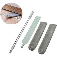 Clonic Plumeau, verstelbare lange stofborstel en 2 afwasbare stofhoezen, flexibele platte stof-huishoudmop voor vuil en…