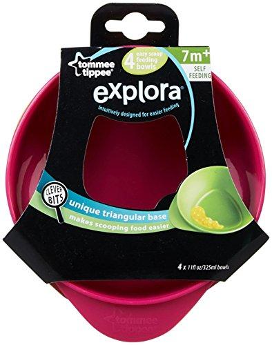 Tommee Tippee Easy Scoop Bowl - Pink/Orange - Girl - 4 ct