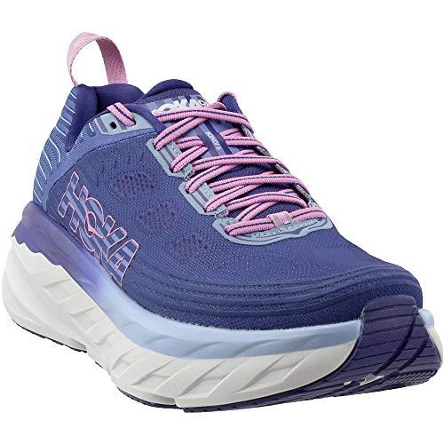 HOKA ONE ONE Womens Bondi 6 Marlin/Blue Ribbon Running Shoe - 9.5