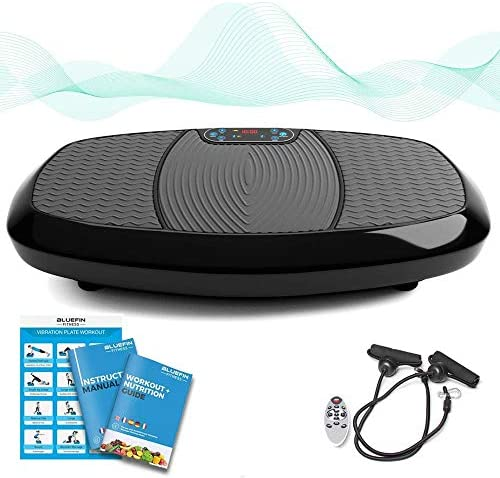Bluefin Fitness Dual Motor 3D Vibration Platform Oscillation, Vibration 3D Motion Huge Anti-Slip Surface Bluetooth Speakers Ultimate Fat Loss Unique Design Get Fit at Home