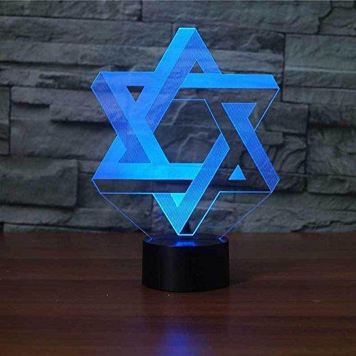 LLZGPZXYD USB Creative Star 3D Luz Nocturna Luminaria Led Mesa De ...