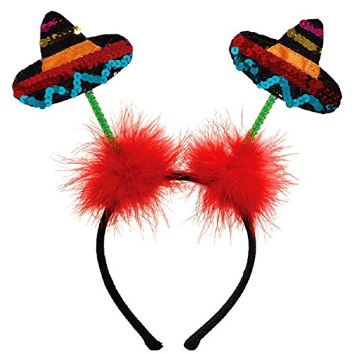 amscan Fiesta Cinco De Mayo Sombrero Headboppers | Party Accessory -
