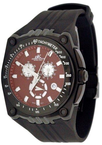 Adee Kaye Men's Ryder G2 Sports Black IP Chronograph Watch Model AK6002-MIPB4