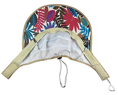 Women's Sun Hat, Summer Leisure UV Protective Visor Hat,Foldable Wide Brim Empty Top Sun Hat for Travel Beach - Khaki by Eastever (Image #2)