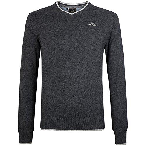 Hv Polo Society Herren Pulli Pullover Shirt Fraser Graphite Grau Dunkelgrau Melange M - XXL