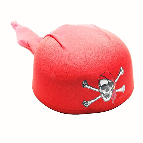[Deluxe Red Pirate Scarf Hat] (Scarf Halloween Costumes)