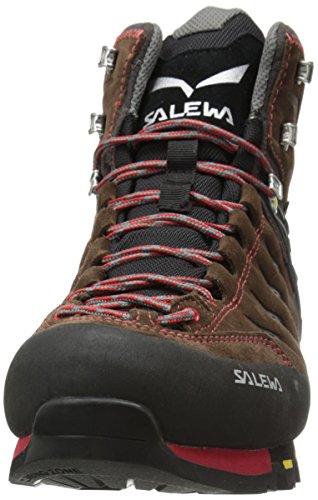Salewa Mens Ms Mtn Trainer Mid Gtx Scarpa Da Trekking Marrone / Giallo
