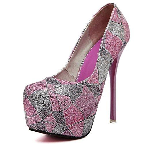 Discothèque les table chaussures aider sèche pour pink étanche Talons 13cm avec hauts simples fin Bas Femmes Boca 14gRS4