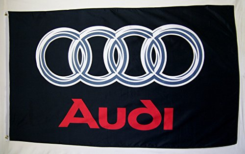 Audi Black Logo Car Flag 3' X 5' Indoor Outdoor Auto Banner