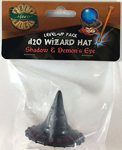 - PolyHero Dice: Wizard 1D20 Wizard Hat: Wizard Shadow/Demon Eye