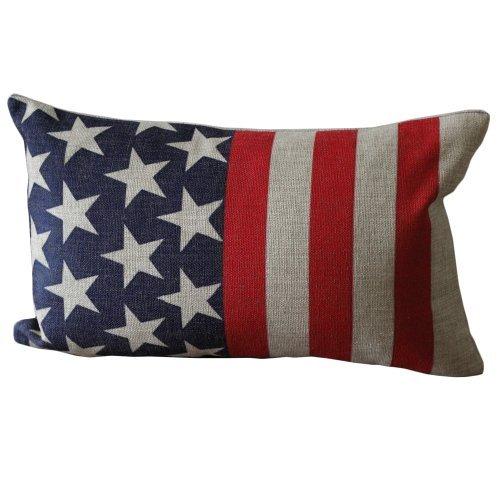 UOOPOO American Flag-Like Print Rectangular Throw Pillow Covers 30CMx45CM Decorative Pillow Covers Linen Lumbar Cushions