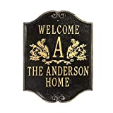 Whitehall Personalized House Plaque - Custom Indoor/Outdoor Aluminum Wall Sign