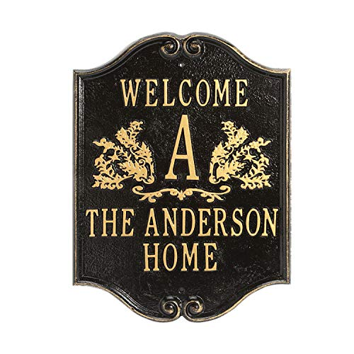 (Whitehall Personalized House Plaque - Custom Indoor/Outdoor Aluminum Wall Sign)