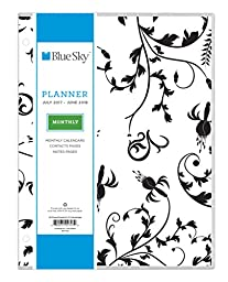 Blue Sky 2017-2018 Academic Year Monthly Planner, 8.5\