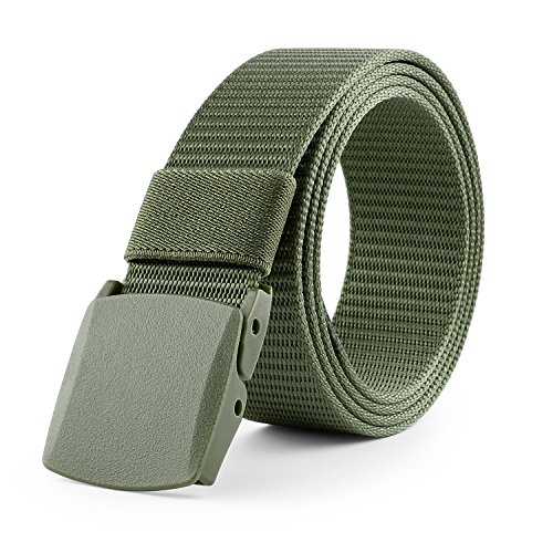 Hiking Belt - JASGOOD Nylon Canvas Breathable Military Tactical Men Waist Belt With Plastic Buckle Mens Hiking Belt