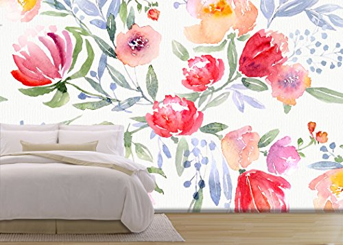 Illustration Watercolor Floral Botanical Pattern and Seamless Background