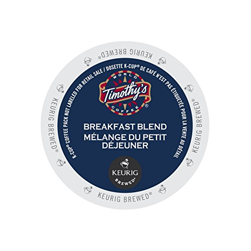 Timothy's World Coffee Breakfast Blend for Keurig Brewers 2 Boxes x 24 (Timothys Breakfast Blend Coffee)