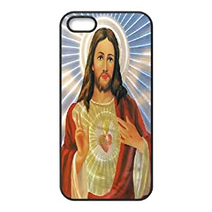 High Quality Phone Back Case Pattern Design 1Jesus Christ In Our Heart- For Apple Iphone 5 5S Cases