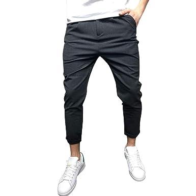 0be97f6a5e4bc MCYs Homme Vintage Pantalon Cargo Chino - Jogging Pantalons de Survêtement  Ceinture Élastique Sport Cargo Pantalons