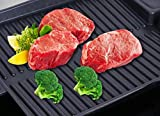 Household Korean Non-stick Baking Tray Barbecue Pan Rectangular BBQ Pot Outdoor Portable Oil Spill Grill Plate