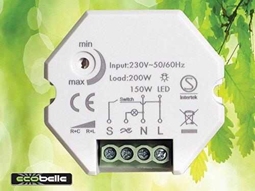 Schema Elettrico Dimmer Per Led : Ecobelle smart dimmer per led max w e illuminazione
