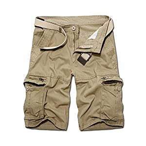 OCHENTA Men's Casual Cargo Pockets Outdoor Work Shorts
