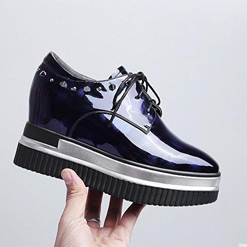 de Principios Plataforma Remaches de Mujer Primavera Zapatos de Mujer DHG la Zapatos con Gruesa a Tac de 0TAB5qxn