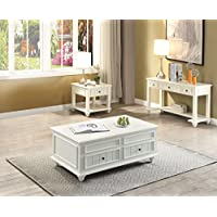 ACME Furniture 83325 Natesa Coffee Table with Lift Top, White Washed