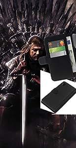 JackGot ( Tronos Serie ) Sony Xperia Z2 D6502 la tarjeta de Crédito Slots PU Funda de cuero Monedero caso cubierta de piel