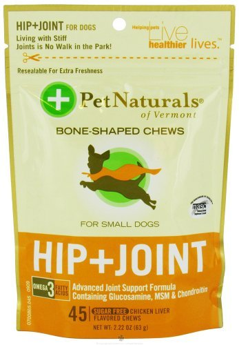 Pet Naturals of Vermont Hip and Joint for Small Dogs Soft Chews - 45 Ea, Pack of 6