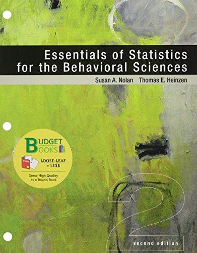 Loose-Leaf Version for Essentials of Statistics for the Behavioral Sciences