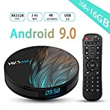Android TV Box 9.0,RK3328 Smart TV Box 2GB/16GB Support 2.4G WiFi Ethernet LAN